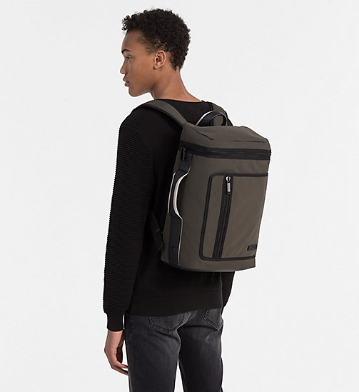 CALVINKLEIN Side Handle Backpack - BLACK OLIVE - CALVIN KLEIN BACKPACKS - detail image 1