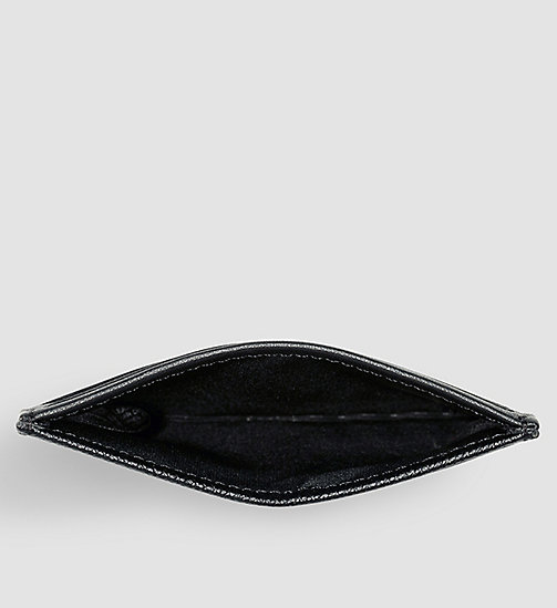 Leather Cardholder - BLACK - CALVIN KLEIN  - detail image 1