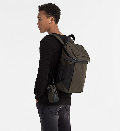 CALVINKLEIN Backpack with Carabiner Pouch - BLACK OLIVE - CALVIN KLEIN  - detail image 1