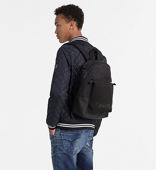 Backpack with Carabiner Pouch - BLACK - CALVIN KLEIN  - detail image 1