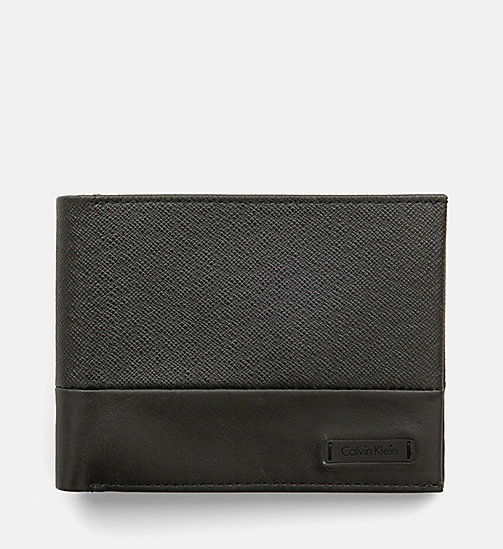 CALVINKLEIN Leather Wallet - BLACK - CALVIN KLEIN WALLETS - main image