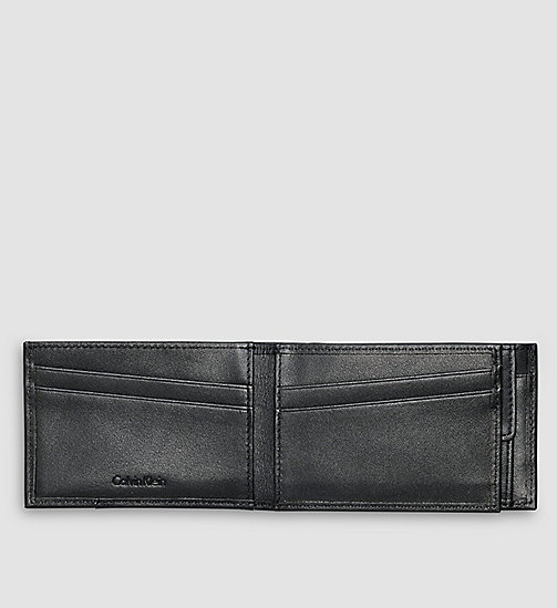 Leather Bifold Wallet - BLACK - CALVIN KLEIN  - detail image 1
