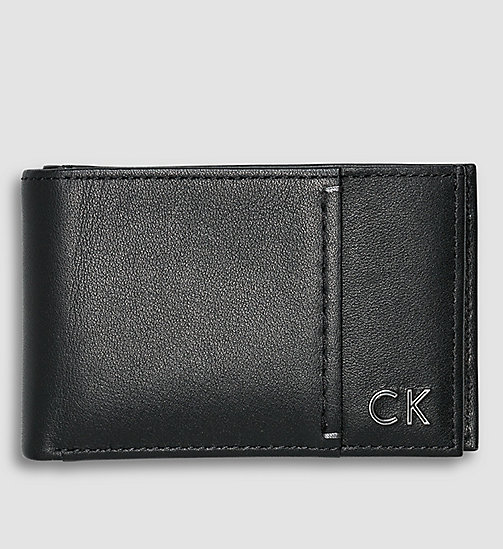 CALVINKLEIN Leather Bifold Wallet - BLACK - CALVIN KLEIN  - main image