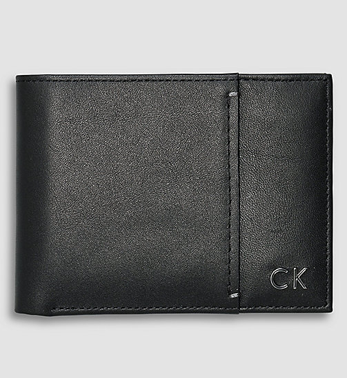 CALVINKLEIN Leather Bifold Wallet - BLACK - CALVIN KLEIN WALLETS - main image