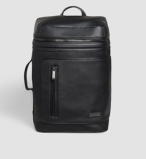CALVINKLEIN Side Handle Backpack - BLACK - CALVIN KLEIN WORK TO WEEKEND - main image