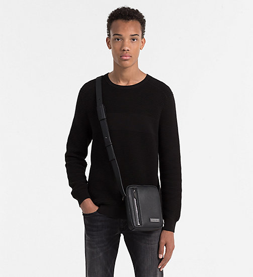 CALVINKLEIN Mini Reporter Bag - BLACK - CALVIN KLEIN GIFTS FOR HIM - detail image 1