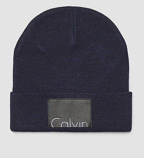 CALVINKLEIN Calvin Beanie - MID HEATHER GREY - CALVIN KLEIN HATS, SCARVES & GLOVES - main image