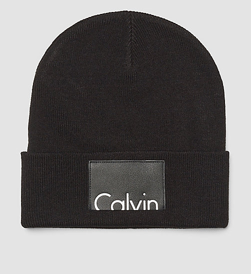 Calvin Beanie - BLACK - CALVIN KLEIN SHOES & ACCESSORIES - main image