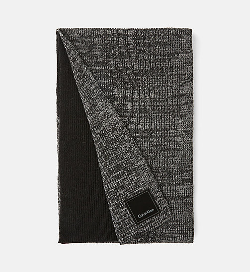 CALVIN KLEIN JEANS Wool Blend Scarf - BLACK/STEEL GREY - CALVIN KLEIN JEANS ACCESSORIES - main image
