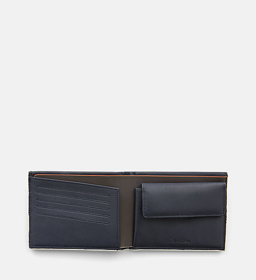 CALVINKLEIN Leather Wallet - BLUE NIGHT - CALVIN KLEIN WALLETS - detail image 1