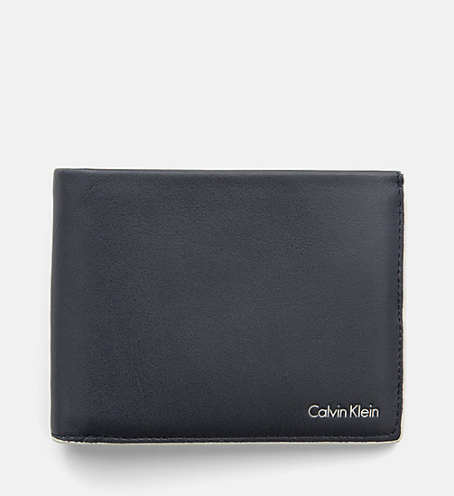 Leather Wallet - BLUE NIGHT - CALVIN KLEIN SHOES & ACCESSORIES - main image