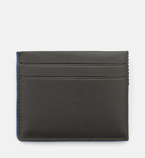 CALVINKLEIN Leather Cardholder - BLACK - CALVIN KLEIN WALLETS - detail image 1