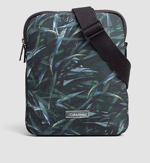 CALVINKLEIN Flat Crossover Bag - JUNGLE LEAF - CALVIN KLEIN CROSSOVER BAGS - main image