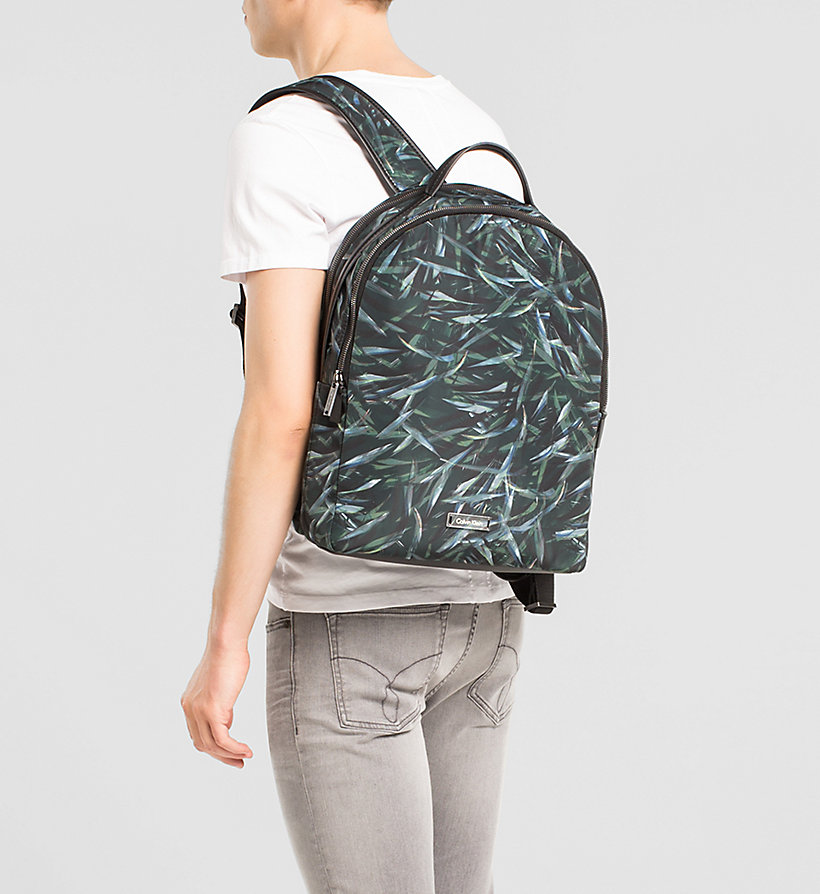 CALVINKLEIN Leaf Print Backpack - JUNGLE LEAF - CALVIN KLEIN SHOES & ACCESSORIES - detail image 1