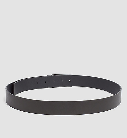 CALVINKLEIN Two Buckle Leather Belt Gift Set - BLACK - CALVIN KLEIN GIFTS FOR HIM - detail image 1