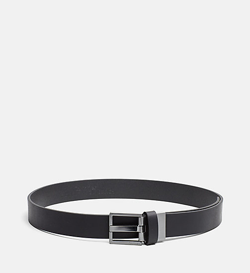 CALVINKLEIN Two Buckle Leather Belt Gift Set - BLACK - CALVIN KLEIN GIFTS FOR HIM - main image