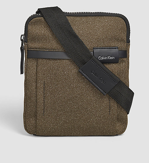 CALVINKLEIN Flat Crossover - BLACK OLIVE - CALVIN KLEIN CROSSOVER BAGS - main image