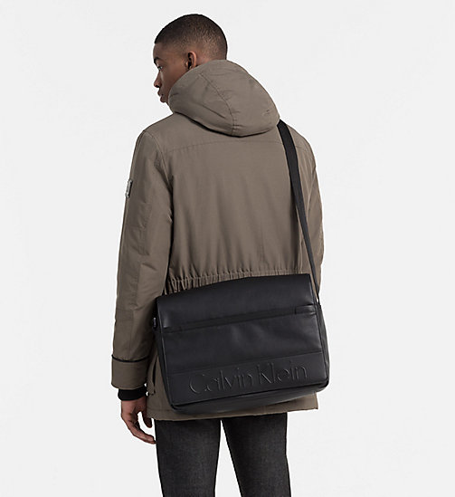 Flap Messenger Bag - BLACK - CALVIN KLEIN  - detail image 1