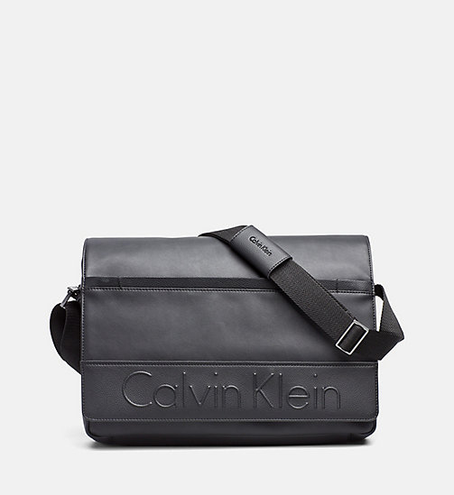 Flap Messenger Bag - BLACK - CALVIN KLEIN SHOES & ACCESSORIES - main image