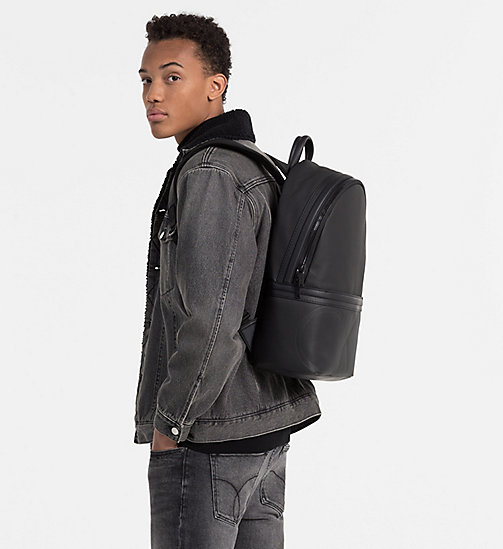 CALVINKLEIN Coated Canvas Backpack - BLACK - CALVIN KLEIN 24/7 STAPLES - detail image 1