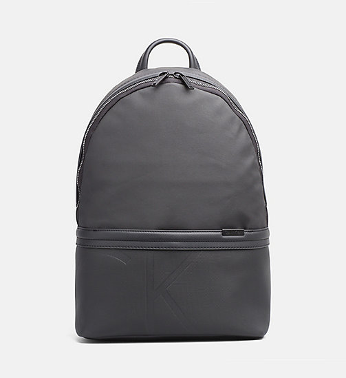 CALVINKLEIN Coated Canvas Backpack - BLACK - CALVIN KLEIN 24/7 STAPLES - main image