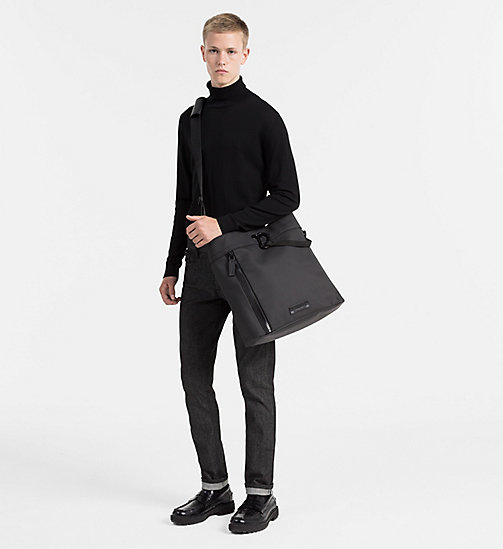 CALVINKLEIN Gecoate canvas carry-all tas - BLACK - CALVIN KLEIN CARRIED AWAY - detail image 1