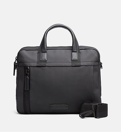 CALVINKLEIN Coated Canvas Backpack - BLACK - CALVIN KLEIN LAPTOP BAGS - main image