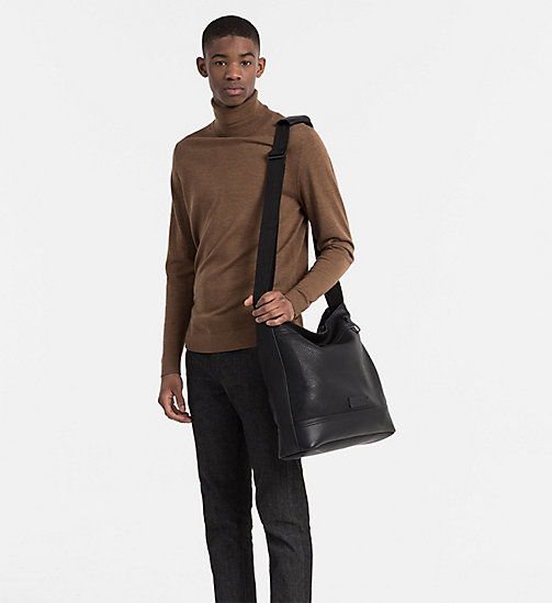 CALVINKLEIN Carry-All Messenger Bag - BLACK - CALVIN KLEIN SHOES & ACCESSORIES - detail image 1