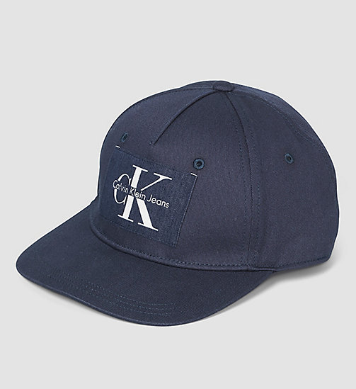 CALVINKLEIN Cotton Twill Baseball Cap - NIGHT SKY - CALVIN KLEIN HATS, SCARVES & GLOVES - main image