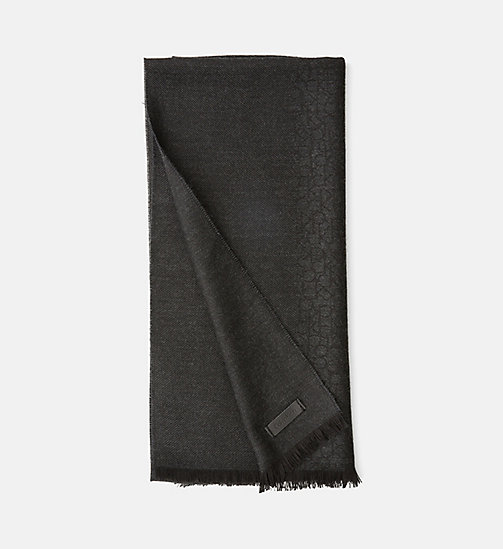 CALVINKLEIN Wool Blend Logo Jacquard Scarf - DARK SHADOW - CALVIN KLEIN SHOES & ACCESSORIES - main image