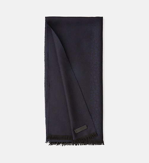 CALVINKLEIN Wool Blend Logo Jacquard Scarf - OMBRE BLUE - CALVIN KLEIN SCARVES - main image