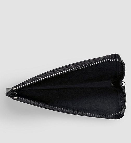 CALVINKLEIN Leather Zip Cardholder - BLACK - CALVIN KLEIN WALLETS - detail image 1