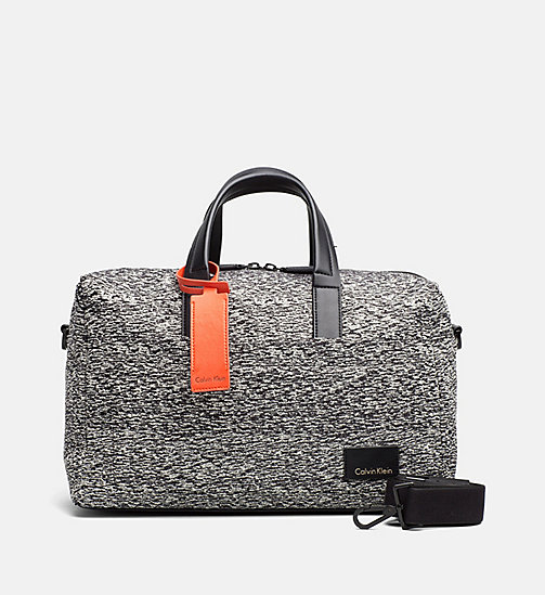 Medium Jacquard Duffle Bag - BLACK/DUSTY IVORY - CALVIN KLEIN  - main image