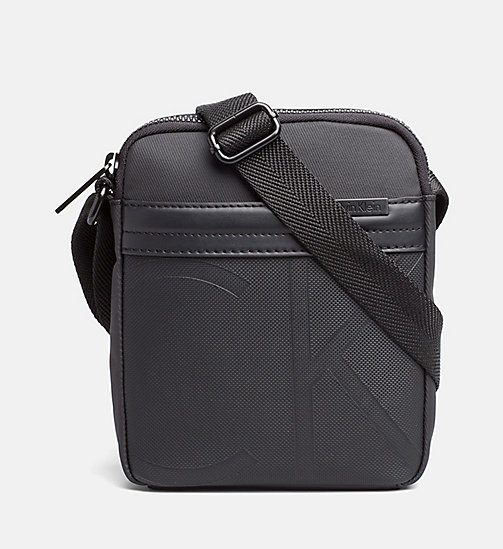 Coated Canvas Mini Reporter Bag - BLACK - CALVIN KLEIN  - main image