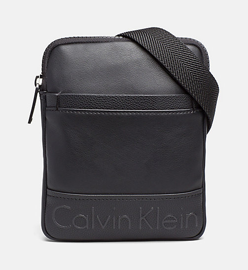CALVINKLEIN Mini Flat Crossover - BLACK - CALVIN KLEIN NEW ARRIVALS - main image