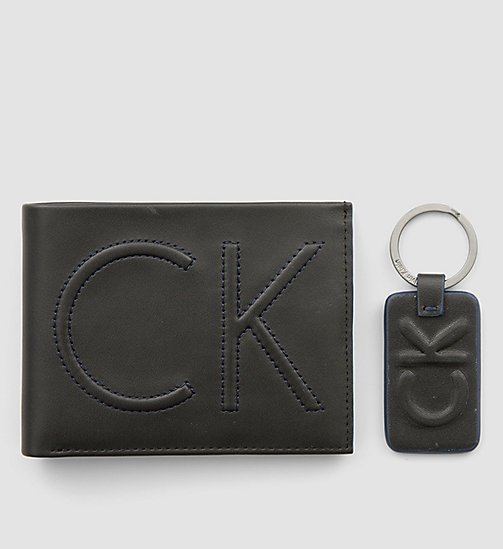 CALVINKLEIN Leather Wallet and Keyring Gift Box - BLACK - CALVIN KLEIN GIFTS FOR HIM - detail image 1