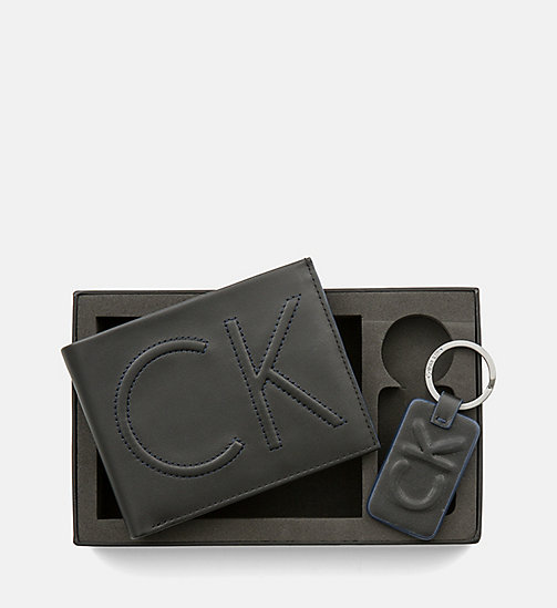 CALVINKLEIN Leather Wallet and Keyring Gift Box - BLACK - CALVIN KLEIN GIFTS FOR HIM - main image