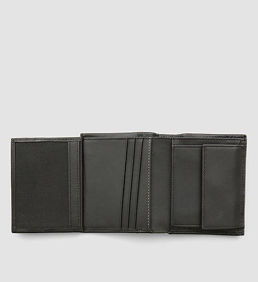 Leather Trifold Wallet - BLACK - CALVIN KLEIN  - detail image 1