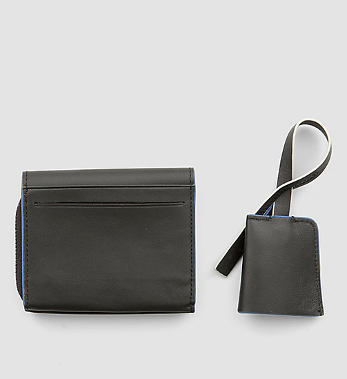 CALVINKLEIN Leather Wallet and Bag Charm Gift Box - BLACK - CALVIN KLEIN GIFTS FOR HIM - detail image 1