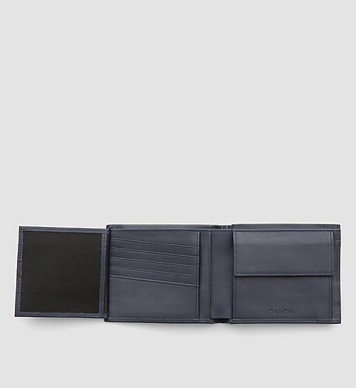 Leather Trifold Wallet - BLUE NIGHT - CALVIN KLEIN  - detail image 1
