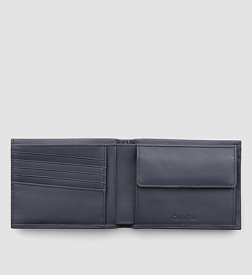 CALVINKLEIN Leather Wallet - BLUE NIGHT - CALVIN KLEIN SHOES & ACCESSORIES - detail image 1