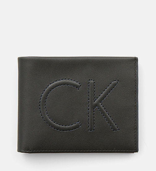 Leather Slimfold Wallet - BLACK - CALVIN KLEIN SHOES & ACCESSORIES - main image