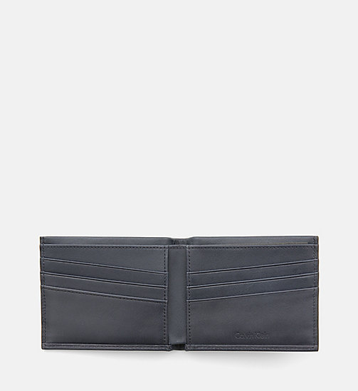 CALVINKLEIN Leather Slimfold Wallet - BLUE NIGHT - CALVIN KLEIN WALLETS - detail image 1