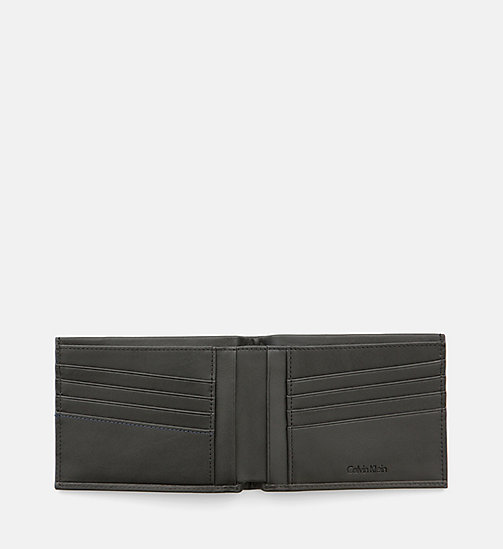 Leather Wallet - BLACK - CALVIN KLEIN SHOES & ACCESSORIES - detail image 1