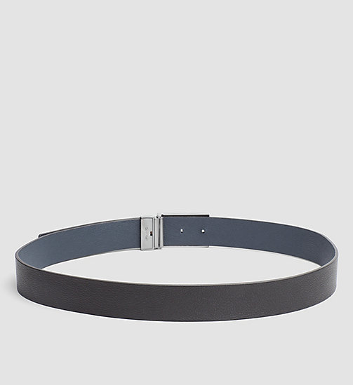 CALVINKLEIN Reversible Leather Belt - BLACK/BLUE NIGHT - CALVIN KLEIN BELTS - detail image 1