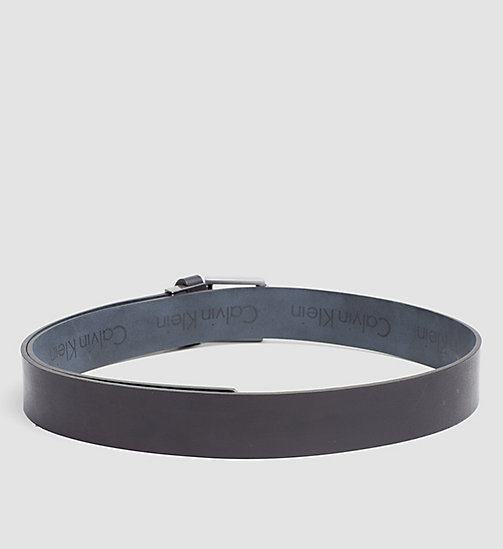 Reversible Leather Logo Belt - BLACK/BLUE NIGHT - CALVIN KLEIN SHOES & ACCESSORIES - detail image 1