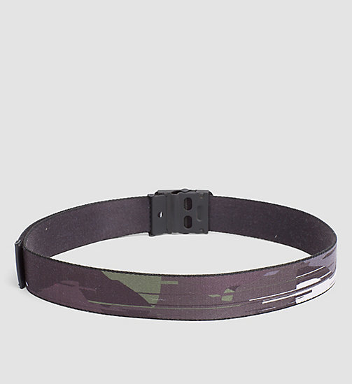 CALVINKLEIN Canvas Plaque Belt - CAMO GLITCH GREYSCALE - CALVIN KLEIN BELTS - detail image 1