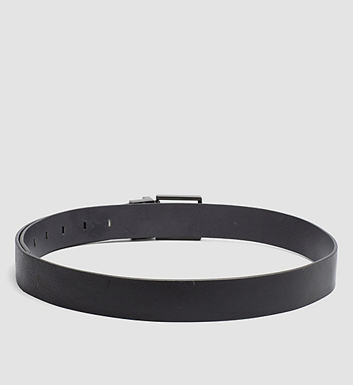 CALVINKLEIN Monochrome Leather Belt - BLACK - CALVIN KLEIN BELTS - detail image 1