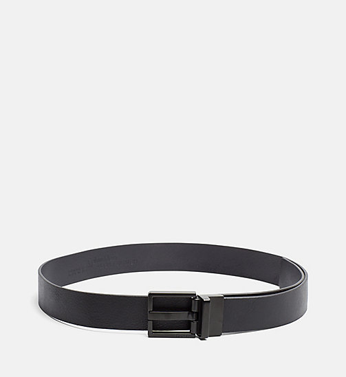 CALVINKLEIN Monochrome Leather Belt - BLACK - CALVIN KLEIN SHOES & ACCESSORIES - main image