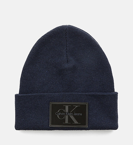 CALVIN KLEIN JEANS Wool Blend Beanie - NIGHT SKY - CALVIN KLEIN JEANS ACCESSORIES - main image